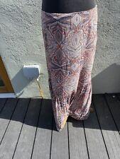 Size 16 Gypsy Floaty Summer Maxi Skirt Paisley Print Skirt Boho