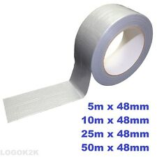 More details for silver duct gaffa tape waterproof gaffer duck repair heavy duty cloth