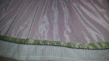 Kidsline Pink Green Crib Skirt Dust Ruffle Nursery Bedding Ladybug Line Chenille
