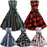 Women Vintage Dress 1950s Retro Sleeveless O Neck Evening Party Prom Swing Dress
