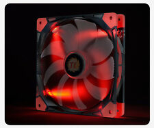 THERMALTAKE 14cm LUNA ANTI-VIBRATION RED LED Fan Model: CL-F022-PL14RE-A [f33]