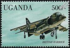 BAe (British Aerospace) SEA HARRIER Carrier-Based Aircraft Stamp (1998 Uganda)