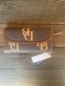 NWT, Dooney & Bourke Monogram Continental Clutch Wallet