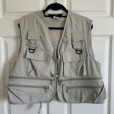 Woolrich Mens Size Large Hunting Tactical Fishing Vented Safari Vest Natural EUC