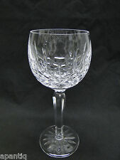 Waterford Lismore Ballon Wine Hock Glasses 7 3/8in Clear Cut Crystal