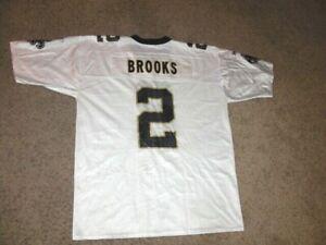 Vintage New Orleans Saints AARON BROOKS Football Jersey men's XL Reebok