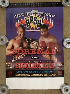 George Foreman vs Larry Holmes 1999 Fight Poster; Fight Never Took Place; 24x36