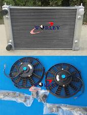 Aluminum Radiator & Fans For VW Golf MK2 MK II 1.6 8V and 1.8 16V MT 1982-1992