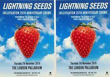Lightning Seeds Flyers X 2 London Palladium 2019 Jollification 25Th Anniversary