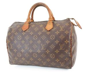 Authentic LOUIS VUITTON Speedy 30 Monogram Boston Handbag Purse #38159