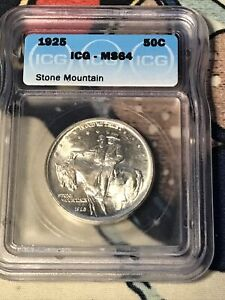 1925 Stone Mountain Classic Silver Commemorative Half Dollar ICG MS64