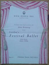 Christmas Season of Ballet programme London's Festival Ballet 12/1952 Nutcracker