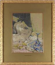 George Sheringham Antique Impressionist Watercolour/Pastel Painting Nude Signed