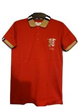 BURBERRY LONDON  MEN S POLO SLIM FIT SHIRT Red Medium