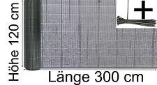 Balkonverkleidung PVC Blickschutz Sichtschutzzaun 120 x 300 cm grau anthrazit