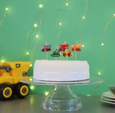 3D Construction Cake Candles, Birthday Cake, Cake Topper