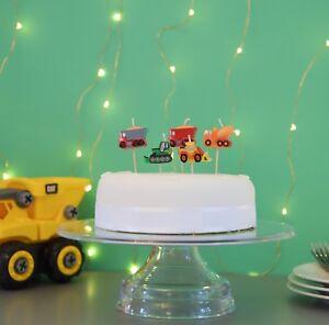 PREMIUM 3D Construction Cake Candles, Birthday Cake, Cake Topper