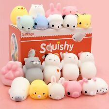 8 Pcs Random Mochi Squishy Toys Satkago Mini Squishies Mochi Animals Stress Toys