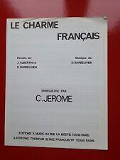 partition C.JEROME le charme français