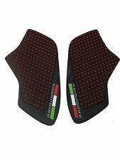 Red Anti slip Tank Traction Side Pads Grip Protector For Monster 696 796 1100