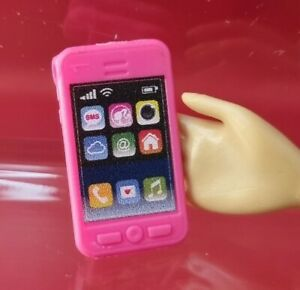 Barbie Pink Mobile Phone IPhone Dreamhouse Dollhouse Doll Diorama Play Accessory