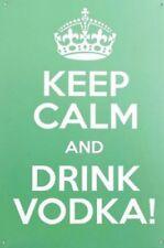 Keep CALM and DRINK VODKA PUB BAR MAN Grotta Nubilato Placca Di Metallo Tin Sign B311