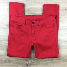 Ksubi Tsubi Ruff Rocker Red Capri Size 27 Women's Jeans Actual W30 L25 R9 (BT12)