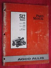 "AGCO ALLIS 512 SERIES,MODEL 512G, 512H, 36"" CUT LAWN TRACTOR & DECK PARTS MANUAL"