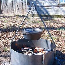 "24"" Steel Fire Ring + Bipod"