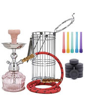 Mya QT Caged Glass Hookah Set Includes 10 Coal And 1 bag  Hookah Mouth Tip