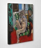 🎨 Quadro Matisse Odalisca con Tamburello Stampa su Tela Vernice Pennellate