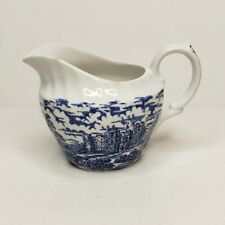 Olde Country Castles Hostess Tableware Creamer British Anchor Blue Transferware