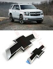 2015-2020 Chevrolet Tahoe Suburban Black Bowtie Emblems 84722856 Front & Rear