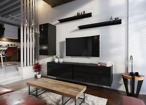 Modern Living Entertainment Wall Unit TV Stand BOXING 10 Gloss - 2 Colours