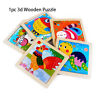 wooden cartoon puzzle puzzle en 3d les animaux / circulation le bois naturel
