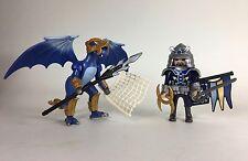 Playmobil 5464 Blue Ice Dragon Samurai Warrior Complete Knight Castle 3666