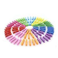 100 Mini Wooden Pegs, Plain Party Decoration, party Favour Clip.Multi colours
