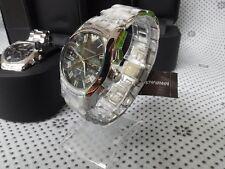 100% Authentic  New EMPORIO ARMANI Wristwatch Chrono LUX Couple Set  AR0673/0674
