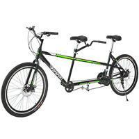 "Tandem Bike 20"" Bicycle 21 Speed Shimano Aluminum Frame Green Good"