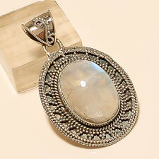 Natural Brazilian Moonstone Pendant 925 Sterling Silver Engagement Fine Jewelry