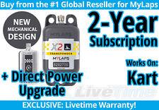 MyLaps X2 Kart Direct Power Transponder w/ 2-year Subscription -AMB Flex 260