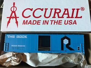 Accurail 5828 Rock Island 50' Insulated Steel THE ROCK Logo! New!