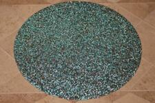 SPARKLES HOME LUMINOUS RESIN CRYSTALS ROUND PLACEMATS(s) - AQUA/SILVER - S/2