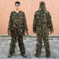 CS Sniper City Camo Ghillie Suit Lightweight Camouflage Hunting Jacket Pants