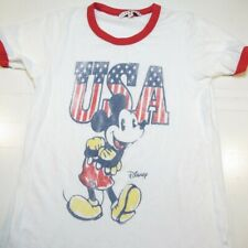 New listing Junk Food Disney Disneyland Mickey Mouse Usa American Flag Ringer Tee T Shirt Xs