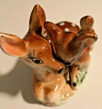 2 X Vintage FairLand Porcelain Deer Figurine Japan  --  192
