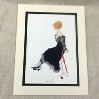 1920 Raphael Kirchner Stampa Girl Lady Amorini Captive Originale Art Nouveau