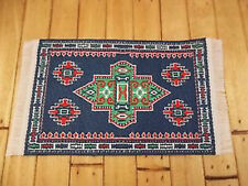 Dolls House Miniatures 1/12th D697C Navy Turkish Rug 7 x 5 cms New
