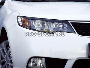 Kia Cerato Forte 2008 2009 2010 2011 2012 2013 paintable headlights eyebrows