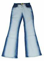 DAMEN-JEANS *** in Batik-Look Weiß/Blau ***